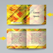 Business card template with abstract background. — Stock Vector
