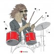 Hand drawn horse drummer — Stock Vector #67091863