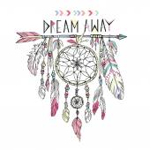Hand drawn dream catcher — Stock Vector