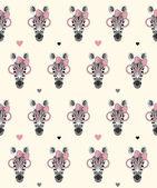 Fashion zebra pattern — Stock Vector
