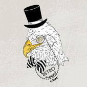 Eagle in retro style — Stock Vector