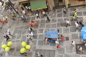 Busy pedestrian street  in Sao Paulo, Brazil. — Stock Photo