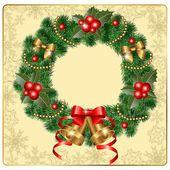Beautiful wreath — Stock Vector