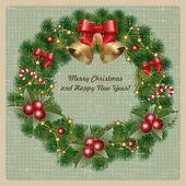 クリスマスのご挨拶 — ストックベクタ
