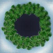 Spruce wreath — Stock Vector