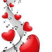 Melodie-Herzen — Stockvektor
