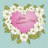 Blooming heart — Stock Vector