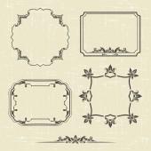Patterned frame — Stock Vector
