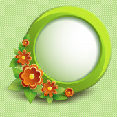 Flowers and circle — Stock Vector