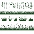 Silhouettes meadow grass — ストックベクタ #67624915