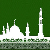 Mosque with minaret — Stock Vector