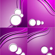 Set of elegant abstract purple background with place for your text. — Stock Vector #52607797
