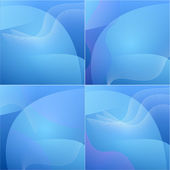 Set of colour elegant abstract blue background. — Stock Photo