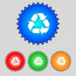 Processing icon. Flat modern Set colourful web buttons. Vector — Stock Vector #53355795