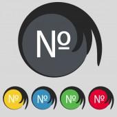 Botón numérico del color plano moderno de la web icon.set. vector — Vector de stock