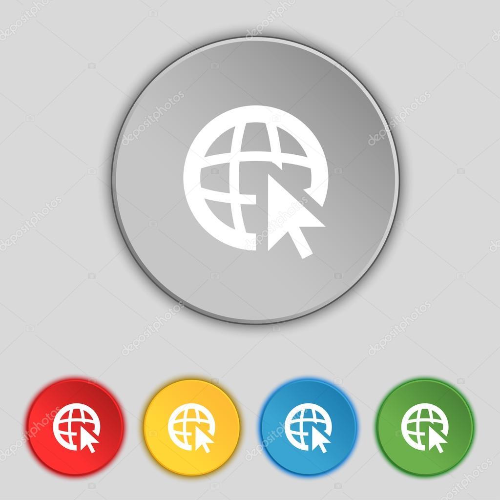 设置颜色按钮矢量图