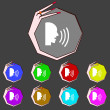 Постер, плакат: Talking Flat modern web icon Set colour button Vector
