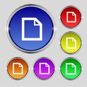 Edite o ícone de sinal do documento. botão de conteúdo. conjunto de botões coloridos ui moderna navegação de site. Vector — Vetor de Stock