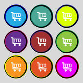 Shopping Cart sign icon. Online buying button. Set colourful buttons. Vector — Stock Vector