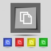 Edit document sign icon. content button. Set colourful buttons Modern UI website navigation. Vector — Stock Vector