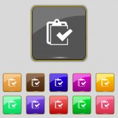 Edit document sign icon. Set colour button. Modern UI website navigation Vector — 图库矢量图片