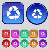 Processing icon. Flat modern Set colourful web buttons. Vector — 图库矢量图片