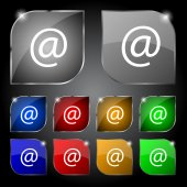 Entreprises commerciales. définir le vecteur de bouton couleur web plat moderne — Vecteur