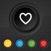 Medical heart sign icon. Cross symbol. Set colourful buttons. Vector — 图库矢量图片