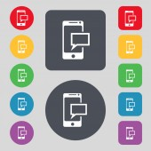 Mail icon. Envelope symbol. Message sms sign. Mails navigation button. Set colur buttons Vector — Wektor stockowy