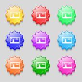Jpg Zeichen Dateisymbol. Download Bild-Datei-Symbol. Legen Sie die bunten Knöpfe. moderne Benutzeroberfläche Website Navigation Vektor — Stockvektor