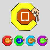 Tablet sign icon. smartphone button. Set colur buttons. Vector — Vettoriale Stock