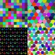 Set of Abstract rainbow colorful tiles mosaic painting geometric palette pattern background. Vector — Stock Vector #54816839