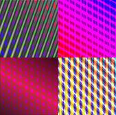Set of dark abstract spectrum background lines. Vector — Stock Vector