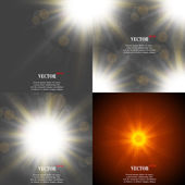 Summer sun light burst. If you enjoy the hot and glittering summer sun, that is background with space for your message. EPS10. Vector — Vector de stock
