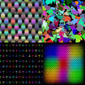 Set of texture many small brightly colored figures. Vector — Stock Vector