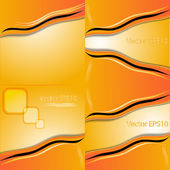 Collection of abstract orange backgrounds.Eps10. Vector — Stock Vector