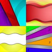 Big Set Of Soft Colored Abstract Background. Vector — ストックベクタ