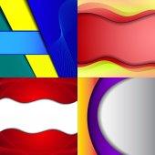 Grote reeks van zachte gekleurde abstracte achtergrond. vector — Stockvector