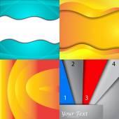 Set van heldere abstracte achtergronden. ontwerp eps 10. vector — Stockvector
