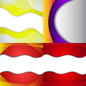 Set of bright abstract backgrounds. Design eps 10. Vector — ストックベクタ