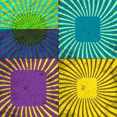 Установите фон винтажные цветные лучи. Eps10. вектор — Cтоковый вектор