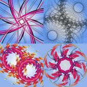虹の抽象的な概念の背景のセットです。ベクトル — ストックベクタ