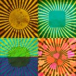 Set Vintage Colored Rays background. EPS10. Vector — Stock Vector #54854351