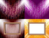 Set of Background with frames and spotlights. Vector — Vector de stock