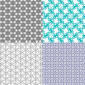 Set of abstract vintage geometric wallpaper pattern background. Vector — Stockvektor