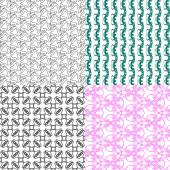 Set of abstract vintage geometric wallpaper pattern background. Vector — Stock Vector