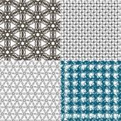 Set of  geometric pattern in op art design. Vector art. — Vettoriale Stock