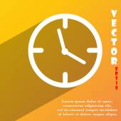 Clock time icon symbol Flat modern web design with long shadow and space for your text. Vector — Vector de stock