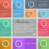 Timer sign icon. Stopwatch symbol. Set of colourful buttons. Vector — Stock vektor