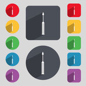 Screwdriver tool sign icon. Fix it symbol. Repair sign. Set of colored buttons Vector — Stockvektor